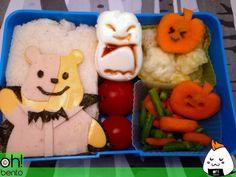 Winnie the Phantom, bat egg, for bento lunch - Halloween