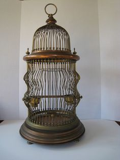 incredible vintage bird cage @allegra Dowdle what do you think about something like this? or we could go with an old vintage mailbox?