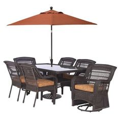 warner heights 5 piece patio dining set collections