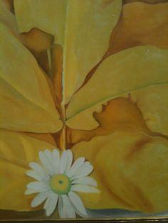 Georgia OKeefe, j'adore, yellow leaf and daisy, just my sunshine Georgia O'keefe Art, Georgia O Keeffe Paintings, Sun Prairie, Georgia Okeefe, 1920s Art, New York Art, Flower Canvas, Art Institute Of Chicago, Matisse