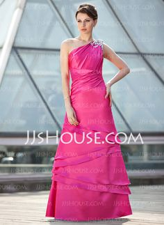 Mother of the Bride Dresses - $166.99 - A-Line/Princess One-Shoulder Floor-Length Charmeuse Mother of the Bride Dress With Ruffle Beading (008018684) http://jjshouse.com/A-Line-Princess-One-Shoulder-Floor-Length-Charmeuse-Mother-Of-The-Bride-Dress-With-Ruffle-Beading-008018684-g18684