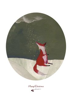 Christmas fox - an idea to put on a card for my Dad.