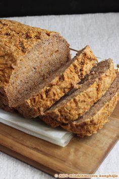 Nóri mindenmentes konyhája: Sütőtök kenyér - gluténmentes, cukormentes, csökkentett szénhidrát tartalmú, tejtermékmentes, tojásmentes, vegán, olajos mag mentes
