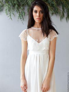 Купить Платье SS16 - белый, платье, белое платье, кружевное платье, шифоновое платье
