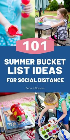 101 summer bucket list ideas that work perfectly for a safe, social distance summer. Keep the kids busy and make memories you'll love with these easy things to do with kids on summer break. Summer Activities For Kids, Summer Kids, Fun Activities, Easy Movies, Make A Bird Feeder, Peanut Blossoms, Boredom Busters For Kids, Kindness Projects, Creative Play