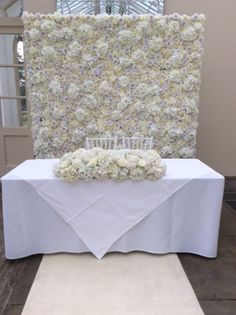 wedding chair cover hire brighton high upside down 14 best flowerwall and arch for weddings events images flower wall floral backdrop with complementing arrangement the registrars table from pollen flowers of white chiavari