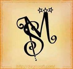 Tattoo Fantasy Monogrammi Stilizzati Con Maiuscole MS