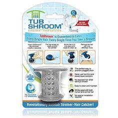 TubShroom Drain Protector for Shower Tub Drain Hair Catcher Hair Strainer (Available in 4 Colors), Orange Toilet Drain, Bathroom Sink Drain, Bathtub Drain, Shower Drain, Shower Tub, Clean Clogged Drain, Clogged Drains, Hair Trap, Drain Repair