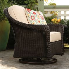 2 swivel charis ottoman and love seat for the front porch