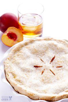 Peach Bourbon Pie Recipe   gimmesomeoven.com