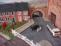 00 Gauge model Railway layout made with real STONE by Jeff Howe Scale Models, Scenery, It Cast, Layout, Stone, Rock, Landscape, Page Layout, Scale Model