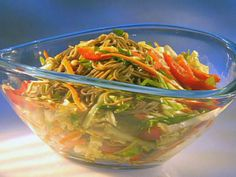 Dang Cold Asian Noodle Salad from FoodNetwork.com (Guy Fieri). This recipe is perfect for a hot day. Put whatever veggies you like in it. I also add broiled chicken to mine.