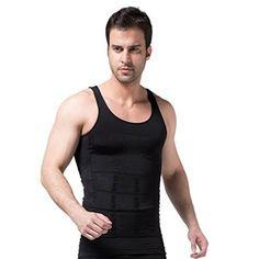 b06d067daeba9 Mens Slimming Body Shaper Abs Abdomen Slim Vest Tank Undershirt -  Black-XX-Large