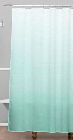 Sea Foam Shower Curtain Baby Girls Bathroom