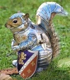 That's one squirrel who's serious about protecting his nuts. Art by Dave Davis.