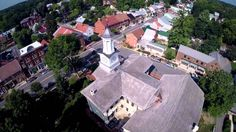 Our town (Shepherdstown West Virginia) viewed from above.  ~video from Robert Peak Designs