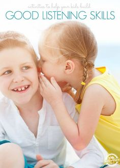 15 Activities to Build Listening Skills. Building listening skills is really important for little ones.  These activities are a wonderful thing to implement around the house if you are working on getting your kids to listen a bit better. Click now!
