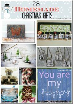 28 Homemade Christmas Gifts that you can make yourself!  #Christmas #DIY
