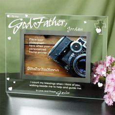 Engraved Godparent Frame | Personalized Godparent Picture Frame