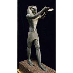 Posterazzi Statue of Horus 1069-664 BCE Egyptian Art Bronze Musee du Louvre Paris France Canvas Art - (24 x 36)