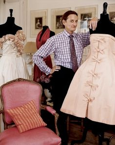hamish bowles and part of his couture collection.