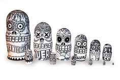 Custom set of Russian Nesting dolls for Design Within Reach by Travis Cain