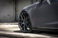 Tesla Model S P85D Caught Rocking Gloss Gunmetal Wheels