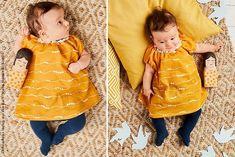 Perfekt für kleine Trendsetter! Dieses Kleidchen ist in Kombination mit einer Leggings oder Stumpfhose nicht nur im Sommer ein süßer Hingucker. Genau das Richtige, um die Welt zu erkunden!Weiter lesen