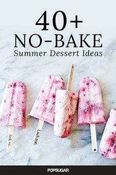 Keep your budding chefs amused, and those sweet teeth satisfied, with one of these simple and summery no-bake dessert ideas.