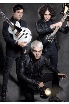 Frank iero, Gerard way, and ray toro