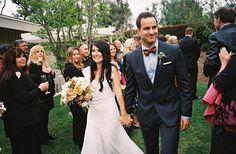 Autumn Backyard Wedding: Brittany + Mike | Green Wedding Shoes Wedding Blog | Wedding Trends for Stylish + Creative Brides