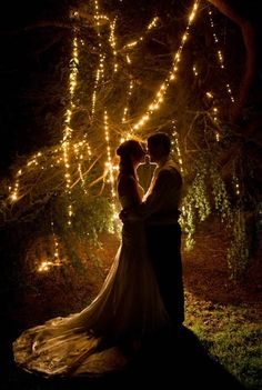 Under The Stars... wow this is so beautiful. Not sure my train was as long as this but if poss would love to get back into the dress and for us to have some romantic evening pictures just like this! :)