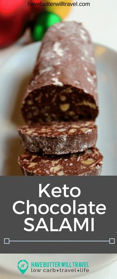 Looking for something moreish to take along to a Xmas party? Look no further as this Keto Chocolate Salami is a hit with everyone and easy to make ahead. Low Carb Deserts, Low Carb Sweets, Ketogenic Desserts, Keto Snacks, Keto Foods, Chocolate Salami Recipe, Chocolate Recipes, Salami Recipes, Radish Recipes