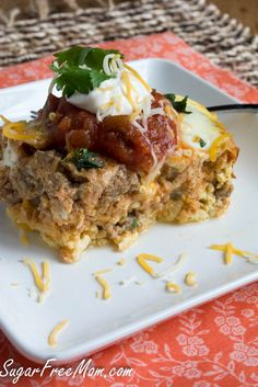 This Slow Cooker Mexican Breakfast Casserole is the perfect recipe for starting your morning with a sizzle! Pin and save for the weekend!