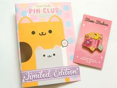 Super Cute Pin Club by Stami Studios Star Emoji, Presentation Cards, Rubber Material, Cute Pins, Pin Badges, Gold Stars, New Pins, Magical Girl, Dungeons And Dragons