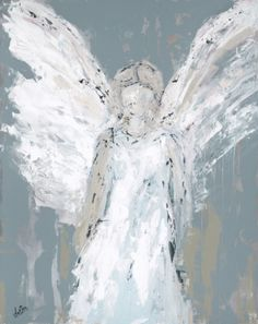 Vintage French Soul ~ Angel Watching Over You - Fine Art by Deann Angel Artwork, Angel Paintings, Art Paintings, Original Paintings, I Believe In Angels, Angels Among Us, Angel Pictures, Contemporary Abstract Art, Guardian Angels