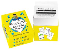 Preschool Apraxia Cards. Repinned by SOS Inc. Resources pinterest.com/sostherapy/.