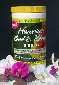 Grow More Hawaiian Bud and Bloom Fertilizer at Tindara Orchid Supplies