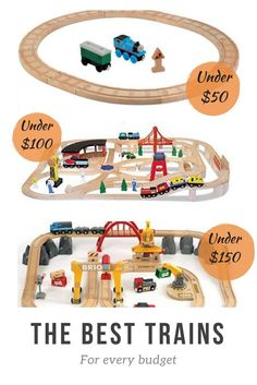 Best wooden train sets for every budget. Buying a quality train deosn't haven't to break the bank. A round-up of Thomas the Train, Brio, KidKraft, Melissa & Doug, Ikea and more.