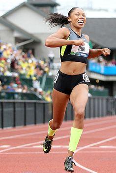 Allyson Felix, sprinter. #idol #runner #pro