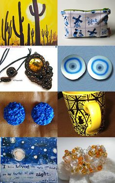 Yellows and Blues. by Lantana Louise--Pinned with TreasuryPin.com
