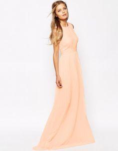 Mango | Mango Pleated Maxi Dress at ASOS