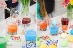 Mind-Blowing Ways to Use Kool-Aid Dye hard-boiled eggs with Kool-Aid.Dye hard-boiled eggs with Kool-Aid. House Cleaning Tips, Diy Cleaning Products, Cleaning Hacks, Cleaning Solutions, Cleaning Supplies, Easy Easter Crafts, Crafts For Kids, Easter Ideas, Do It Yourself Organization