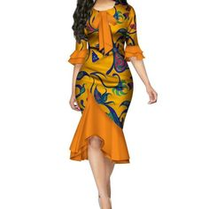 Fashion Vestidos African Dresses for Women Bazin Riche Bow Knot Patchwork Dress African Fashion Ankara, Latest African Fashion Dresses, African Print Fashion, Africa Fashion, Short African Dresses, African Print Dresses, Women's Dresses, Samoan Dress, African Traditional Dresses