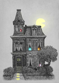 """""""Haunted by the 80's"""" Art Print by Terry Fan on Society6."""