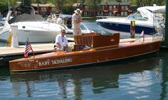 """Baby Skipalong"", a one-of-a-kind competitive boat designed in 1924 by naval architect F.K. Lord, was built by the Nevins boat yard of New York."