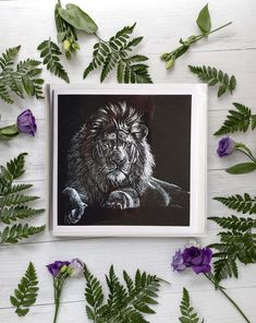 White Pencil, White Envelopes, Monochrome, How To Draw Hands, Lion, Art Pieces, Gallery Wall, Greeting Cards, Colours