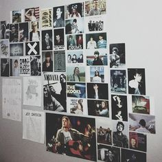 Awesome music wall full of indie artists. Cool with album covers. My New Room, My Room, Dorm Room, Tumblr Bedroom, Tumblr Rooms, Indie Room, Sala Grunge, Pale Tumblr, Punk Room