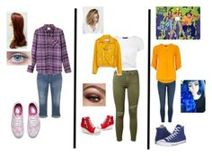 """""""Diana Lombard, Martin Mystery, Java the Caveman"""" by ocean-goddess ❤ liked on Polyvore featuring Silver Jeans Co., Vans, RVCA, Current/Elliott, New Look, Zara, River Island, Converse, Ultimate and Dorothy Perkins"""