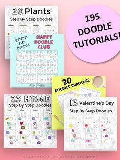Happy Doodles, Bujo Doodles, Cool Doodles, Simple Doodles, Easy Doodles Drawings, Easy Doodle Art, Doodle Ideas, Drawing Skills, Drawing Ideas